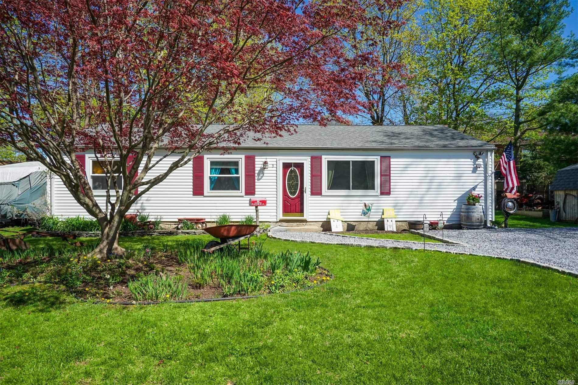 Great 3-4 Bedroom Ranch on Quiet Dead End. Living Room w/Pellet Stove, Bonus Room Could Be Office. Huge Deck, Private Backyard, In-Ground Sprinklers, New Blue Stone Driveway. Well Maintained.