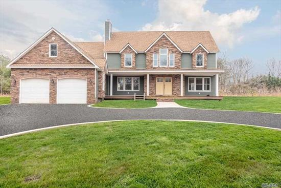 New Build Energy Efficient And Smart Home Which Backs To Nature Preserve Features Raised Panel Coffer Ceiling And Walls, Wide Plank Oak Floors, Stunning Designer Kitchen, Living Room, And Den With Fire Place, A Large Master Bedroom With A Balcony And a Master Bathroom Suite. This Home Is Extremely Energy Efficient Including A Geo Thermal Heating And Cooling System, Pine Barren Tapped Well Water With Filtration System Accessing Very Good Drinking Water. Solar Ready Potential for 17KVH power.