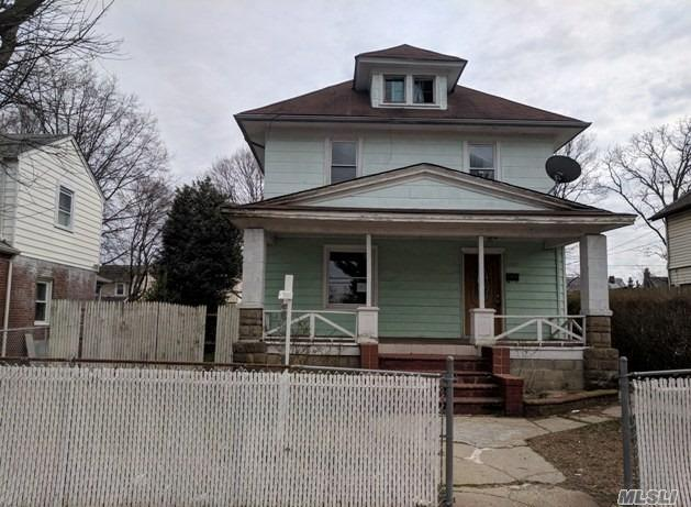 Great Opportunity To Own In Hempstead Village! Come See This Large, Mid-Block House Located Close To Shopping, Parks, And More. Property Features A Full Finished Basement And Detached 2-Car Garage For Ample Storage.