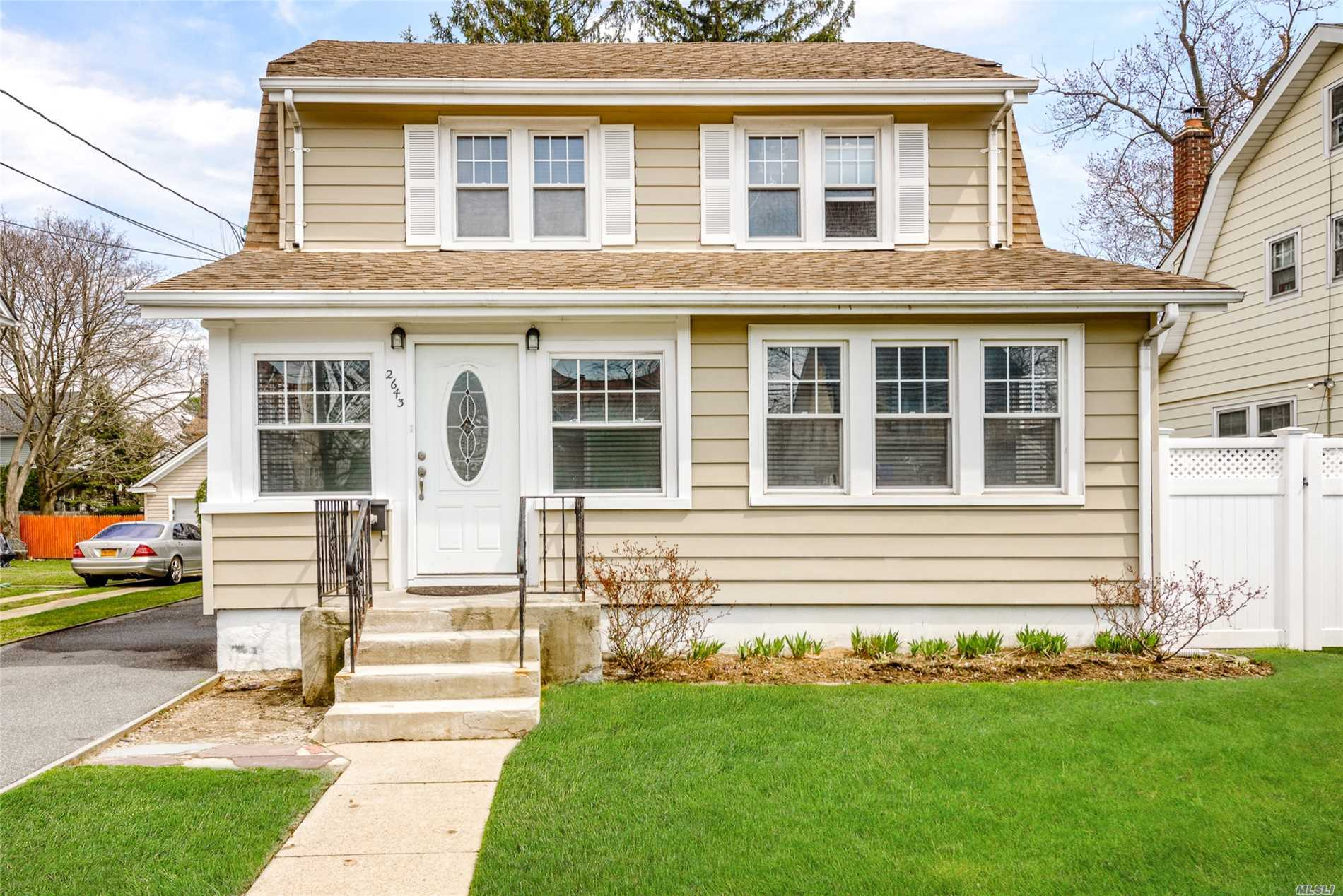 3 Bedroom, 2 Full Bath Dutch Colonial Set 50 x !00 Property On Quiet Street In Old Towne Baldwin. House Was Renovated In 2011, New Kitchen, 2 New Baths, Gas Boiler And More. Low Taxes And No Flood Insurance Needed. This House Will Not Last.