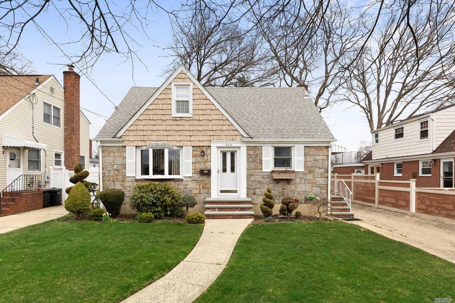 Very Clean! Move in ready home in desirable Franklin Square! Great Block. Won't last! Updated Kitchen, wood floors, plenty of storage. HW Heater, Boiler, Roof all new within the last 6 years. Close to School & Highways! Watch your kids walk to school!