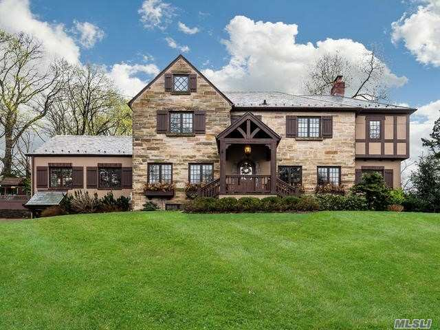 Magnificent, Fully Renovated, Move In Ready Home. This Gorgeous Tudor Perched Atop A Hill Overlooks Circle Drive From A Private Vantage Point. Conveniently Located Just A Stone's Throw From Plandome Train Station Its A Commuter's Dream. Recent Architectural Renovation By Esteemed Firm Created A Bright And Airy, Yet Elegant And Friendly Living Environment.