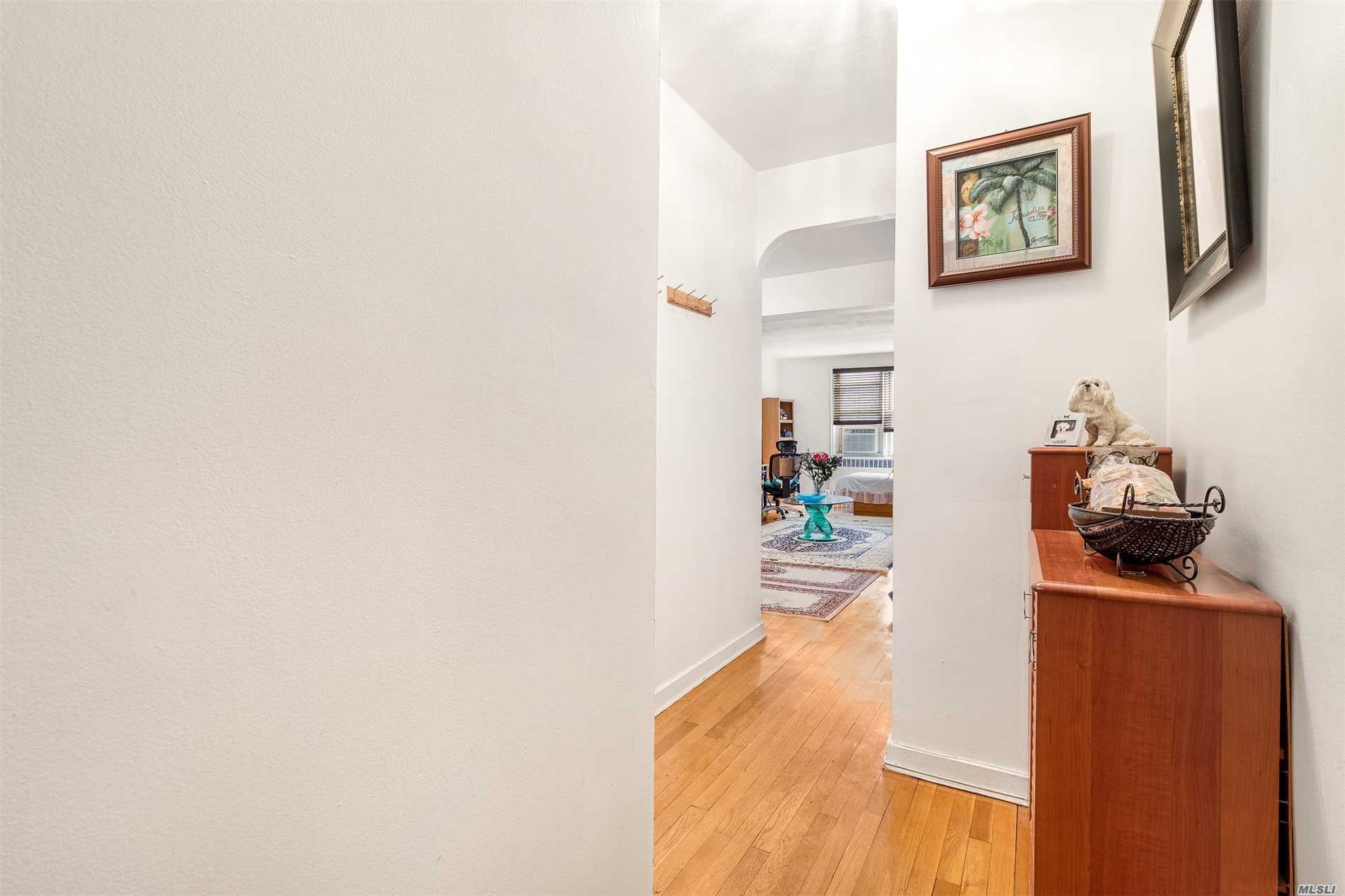 True Full Large One Bedroom South Facing Corner Unit. Spacious Layout With Plenty Of Closets For Storage And Many Windows. Recently-Renovated In The Heart of Rego Park Offers Tremendous Value. Updated Eat In Kitchen. Hardwood Floors Throughout. Maintenance All Included Exp Electricity. Conveniently Located To Subways, Buses, Shopping, School Etc. Move Right In! The Massive King-Sized Bedroom Features A Walk-In Closet And Southern Exposure With Two Windows.This Rare Apartment Is Price For Sell!
