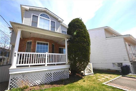 This is a beautiful legal two family duplex. First and second floors are identical. Diamond condition--vaulted ceilings, granite countertops, hardwood floors throughout, high hat lighting. Exclusive rights to Manor Park, which is within walking distance, includes water sports such as sailing. Close proximity to LIRR. Move in ready.