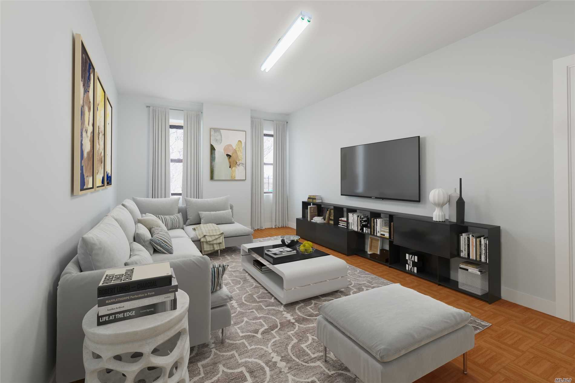 Manhattan Skyline View, Large & Bright Two Bedroom Apartment Located In A Great Location In The Heart Of Jackson Heights. One Block From E, F, R, M, And 7 Trains And Near The Bus Depot, Elmhurst Hospital & LIRR.15 Minutes Away From Manhattan. Close to Highway, Supermarket, Bank, Restaurant and All other community amenities. Commuters Dream.Photos are virtually Staged.
