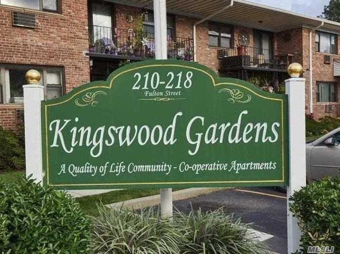 One of Largest Units in The Complex! 2 Bedroom/ 1 Bath Co-Op on The Second-Floor W/ Balcony. Short Walk to Farmingdale Village. Tons of Closet Space. Gas Cooking. BBQ Area, Storage Area, Surveillance Cameras for The Development & Parking Lot. Maintenance Base Of $985 Includes: Taxes (Not Adjusted for Star), Heat, Gas for Stove, Water. 2 Parking Spaces Are Available For $20 Each Per Month. Laundry in The Building.