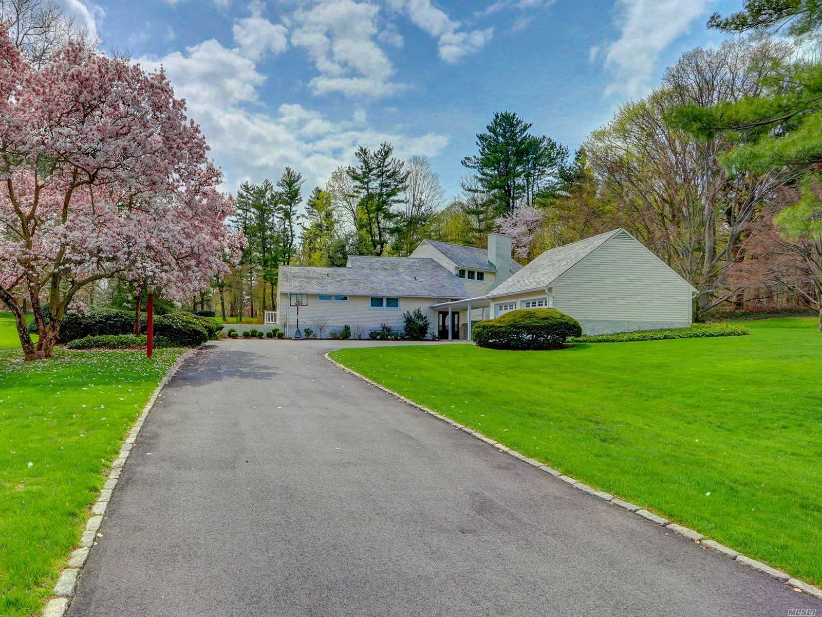 Stunning Newly Furnished and Decorated by Superb Architectural Designer, this beauty is the epitomy of peaceful living, boasting unique details, from the light and colorful rooms to the dramatic fixtures and eyecatching decor. A Must See if you are looking for a Newly Decorated and Furnished Home on 6.55 acres of Rolling Lawns, Sparkling New In-Ground Gunite Pool and the privacy that this all affords you. Also offered Unfurnished if desired.