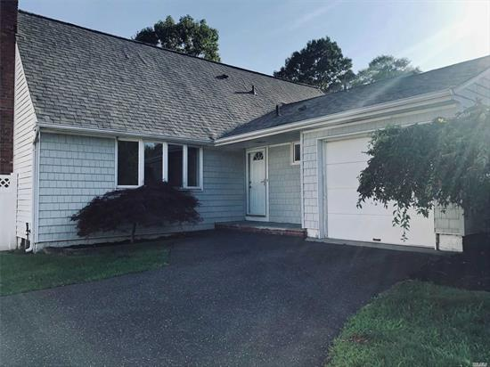 A diamond in the ruff completely renovated CH Colonial 4Bd, 2bth, Eik, Lvrm, frdr, 1 bedroom on the first floor and master bedroom and 2 bedrooms upstairs, large eik and den, part basement for storage and washer and dryer, beautiful fenced in yard, 2 car garage, all in Half Hollow Hill Schools. Don't miss out! Move in date is July 1. Pets are accepted! No smoking!