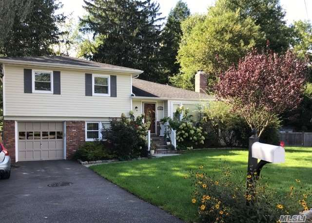 LOCATION and MINT! This fabulous Split level home with spacious Open Floor Plan, Recently Renovated from head to toe. Anderson windows, Hardie-plank siding, Renovated kitchen and baths, Situated on a quiet cul de sac backing The Muttontown Preserve. With 4 bedrooms, 2 full baths, New Great Room with vaulted ceiling, Skylights & Wall to Wall windows providing breathtaking views of the Preserve, 2- zone gas hot water/CAC; 200 amp elec, IGS..25 % SCHOOL.TAX REDUCTION FOR 2019