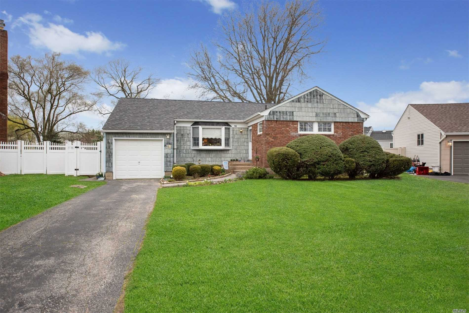 Sprawling Ranch w/1214 Sq. Feet of Living Space on 1st Floor. Updated Eat In Kitchen w/Granite Countertops. Large Dining Room. Master Bedroom w/Half Bathroom. Huge Finished Basement. Gorgeous Hardwood Floors, Central Air, Architect Roof, Gas Heating & Cooking. Large Yard for Entertaining. Close to Parks, Shopping & Parkway. A Must See Home!