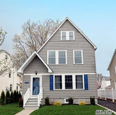 Totally updated bright and sunny Colonial in desirable section of Williston Park. New roof, new siding, new windows, new walls, new Eat-in Kitchen, new bathrooms,  finished basement, new electric, new plumbing, new gas boiler. Great location, near rail road, pool, park, house of worship. This is a must see!