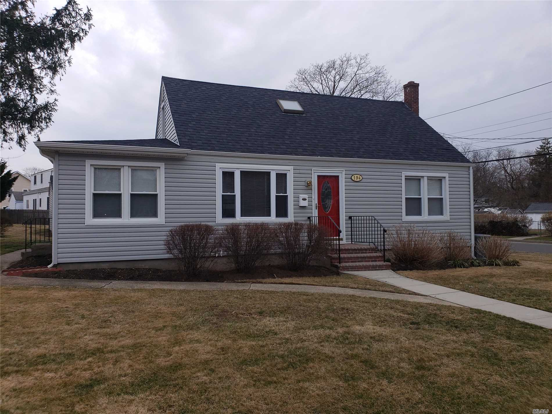 Beautiful Cape, 4 bedrooms, updated roof, windows, kitchen, CAC, Heating system, hardwood floors, completely painted, detached garage, close to park and play grounds.
