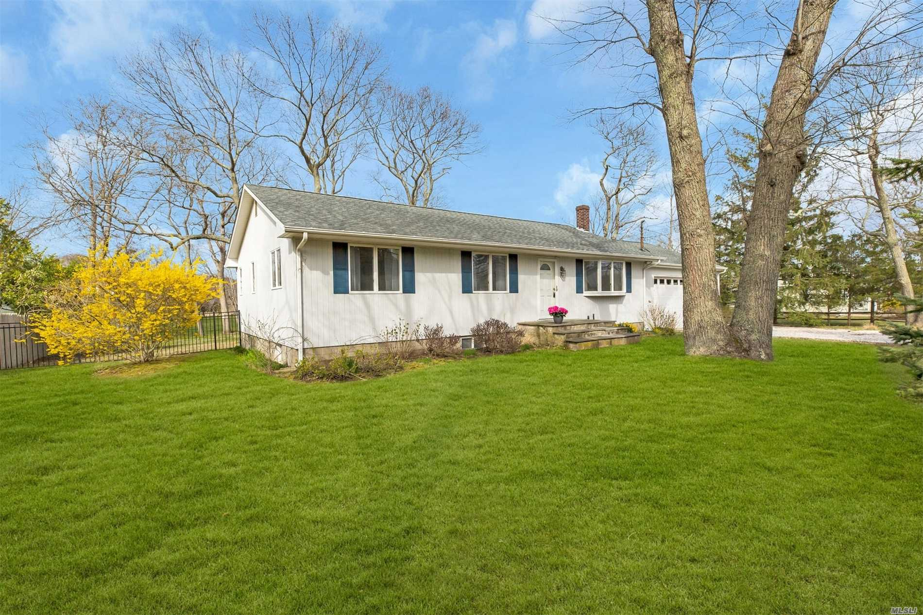 Imagine yourself enjoying all the North Fork has to offer this summer in your own getaway! Sunny 3 bedroom, 2 bath ranch on .34 acre in Goose Neck Estates not only has a deeded beach and community park a short distance away, but a deeded dock also! Hardwood floors throughout, oil/hw heat, full basement and 2 car garage.