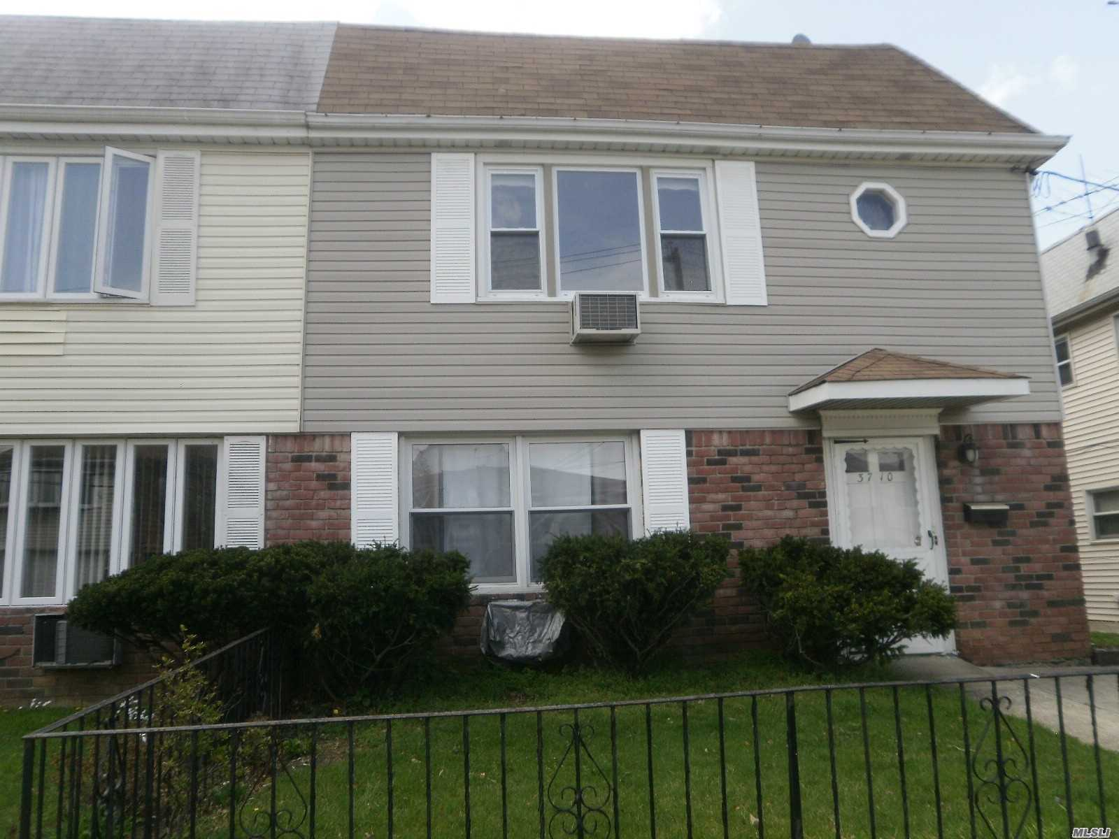 Semi Det.house in quiet residential area of Heart of Little Neck.All remodel with renovation on 1st. floor a few years ago Bright Airy well maintain and new bath room on 2nd floor, a few block to LIRR, Best school distric Enjoyed to Living with excellent income.