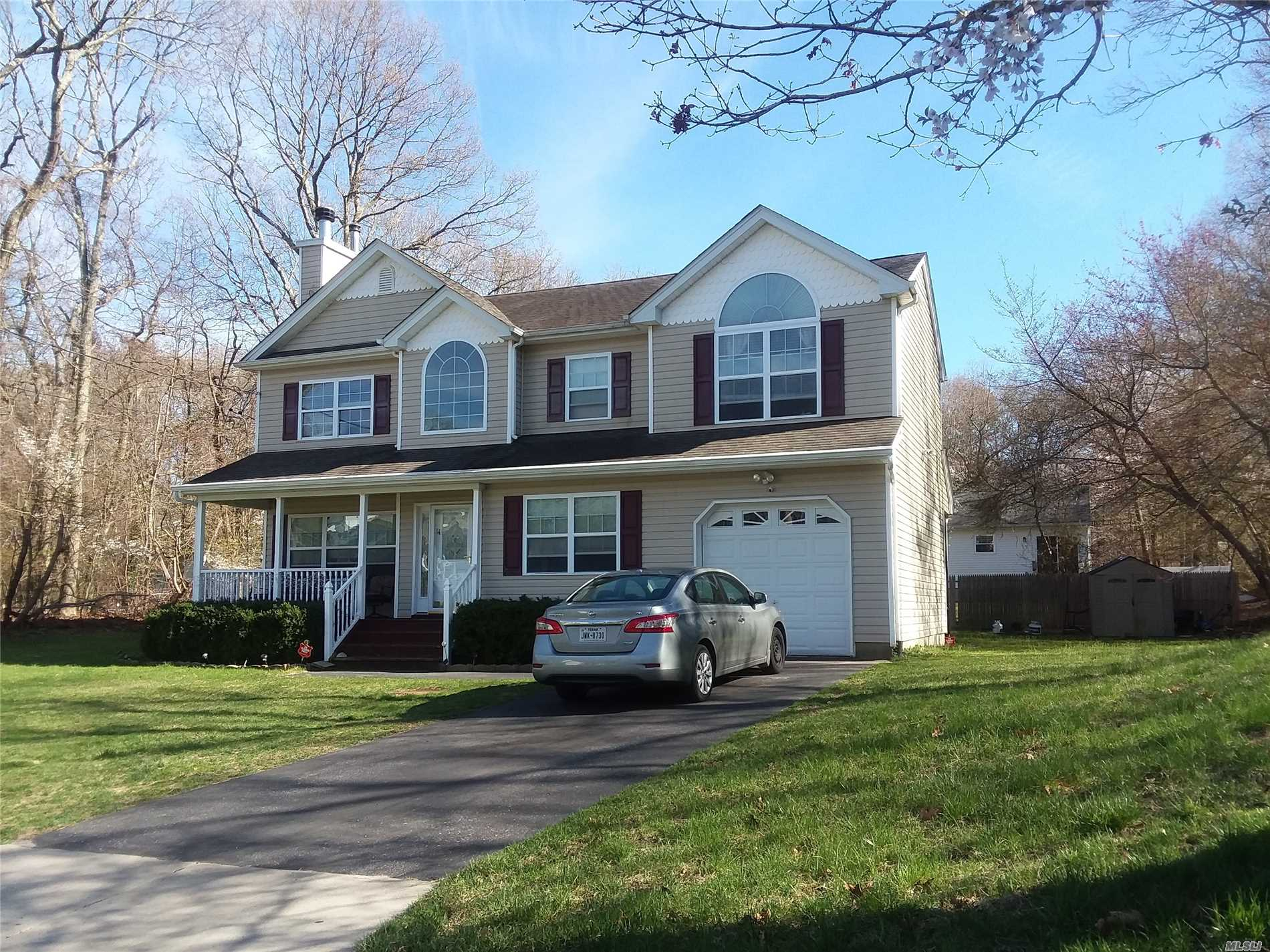 Come home to this spacious, well maintained Colonial. Situated on a cul de sac features include Living Rm., Formal Dining Rm., Spacious EIK, Hardwood floors throughout, Central AC, Finished Basement w/OSE and much more.