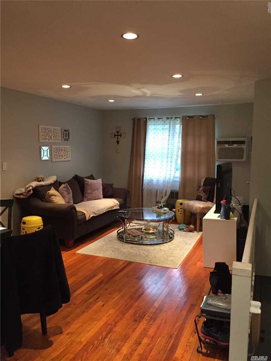 Spacious Upper Large One Bedroom Unit. Features An Updated Kitchen With New SS Refrigerator And Stove. Brand New Marble Bathroom, Abundant Closet Space w/ New Closet Organizers, Attic For Storage. Hardwood Floors Thru Out. Pet Friendly (Dogs & Cats). Set Back In A Manicured Courtyard w/ Close Proximity To Laundry Room And Parking. Close To Express Bus To Manhattan And Highway. Included 2 Parking Stickers. No Flip Tax.