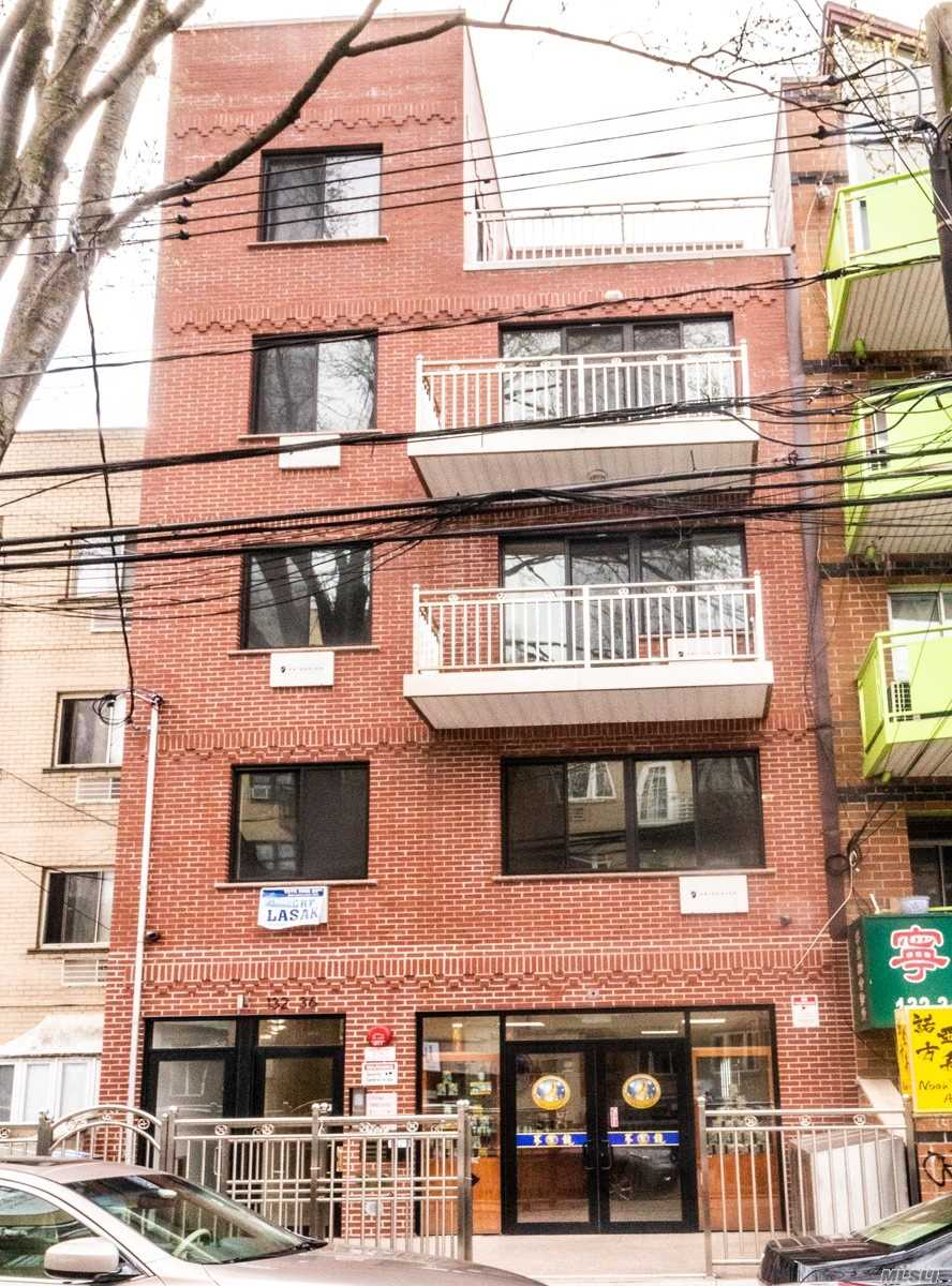 Prime Location, close to everything. only one block away from the main street. 3 mins. to number 7 subway station, LIRR, and Sky View Shopping Center. The building is surrounded by all famous restaurants, supermarkets, banks, libraries, and etc. This building is brand new with all new floors and appliances. tenants are responsible for all utilities.