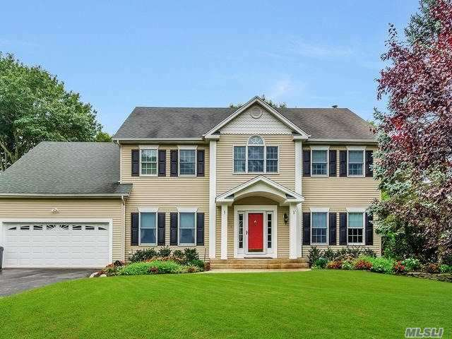 Magnificent Newly Built 5 Bdrm Colonial Smithtown School District Expanded Blacktop Driveway Beautiful Portico Hrdwd Flrs & Custom Moldings And Blinds Throughout Kit W/Granite Counters Ss Appl & Double Oven Beautiful Den W/Stone Fpl Enormous Mst Suite W/Tray Ceiling Walk In Custom Closet Updated Mst Bth W/Walk In Shower Double Vanity Brand New High Efficiency Boiler Cac Full Fin Bsmt Ose Bar Full Bth & Multilevel Deck & Patio