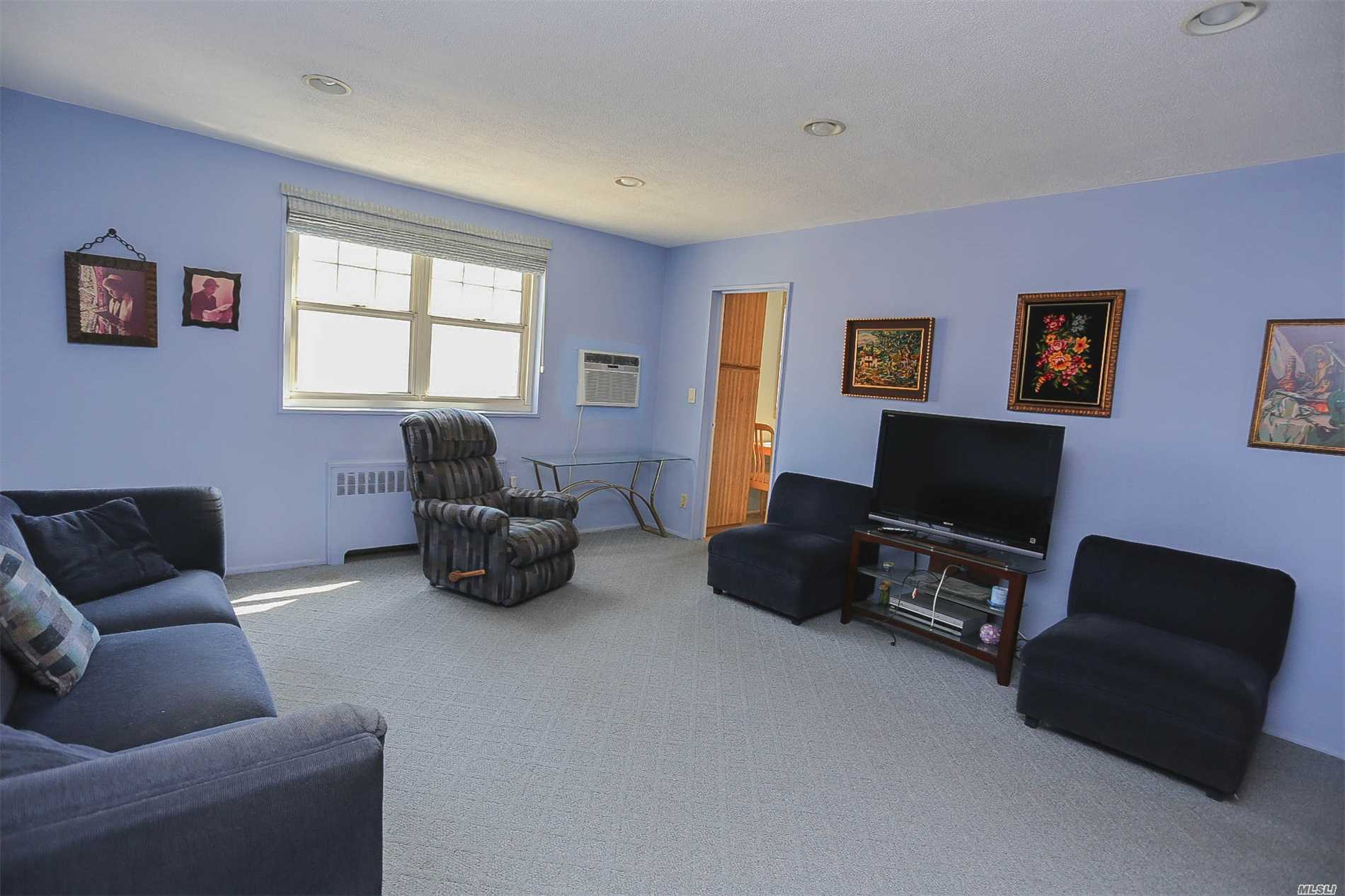Full 2 Bedroom Co-Op,  Large Living Room With Huge Closets, Dining Area, Eat In Kitchen With Washing Machine/dryer in Unit. Home to School District 26. Beautiful well maintained Grounds with Several playgrounds and a splash park nearby. All utilities are included in Maintenance with surcharges per appliance added to the maintenance. Nearby bus transit QM5 , QM35, QM8, Q36, Q30