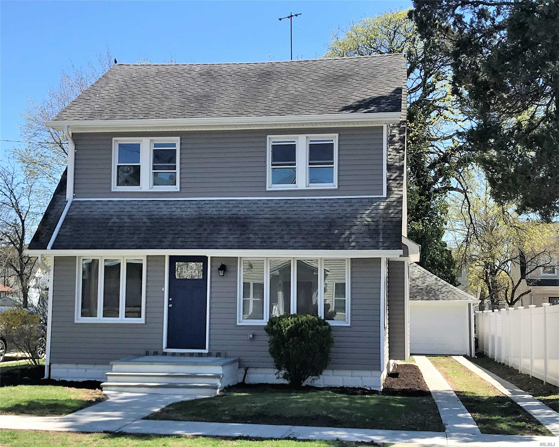 Completely renovated, 4 bedrooms, 3 full bathrooms, Open concept, hardwood floors, stainless steel appliances with quartz counter tops, fully finished basement with bonus room and OSE. High efficient navien boiler, tankless hotwater heater, brand new approx 80 feet long driveway and detached garage,