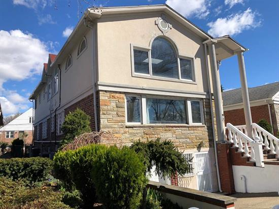 WOW, 2 Master Bed Rms, 1 Family House, Owner Occupy As 2 Family, Situated In Rego Park Crescent. 4000 SQFT Lot 27X56 Building Size. This Large Space, Flanked With Two Huge South Facing Window, A Gracious Sun Drenched Living & Formal Dining Rm, Open Concept Kitchen With Cathedral Ceiling. 3 Large Bedroom, 2 Full Bath & A Master Bedroom With Full-Bath On First Fl. 2nd Floor Has 3 Bedrooms, 2 Full Baths With Jacuzzi & Shower & The Master Easily Fits A King Bed & A Full-Bath. 2 New Central Air.