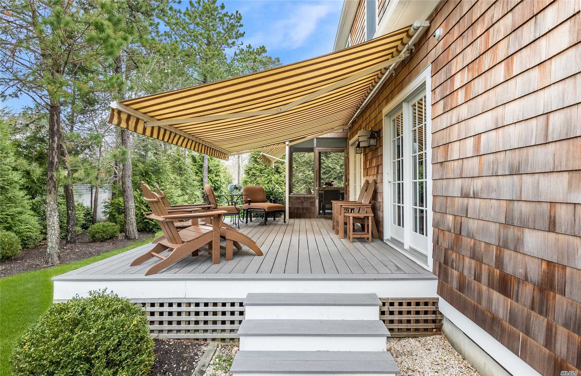 Welcome to Jessup's Landing, a luxurious 55+ older community in Quogue Village. Masterfully crafted, custom detached home presents with noteworthy, tasteful style & flow w/ fine finishings. A sunny foyer welcomes you to a most inviting living room w/ gas fireplace + flows seamlessly to West facing outdoor, rear deck+ cozy screened porch. Handsome kitchen joins the formal dining area for festive gatherings. Main floor master en suite + 3 guest BR's on 2nd level. Village of Quogue easy living!