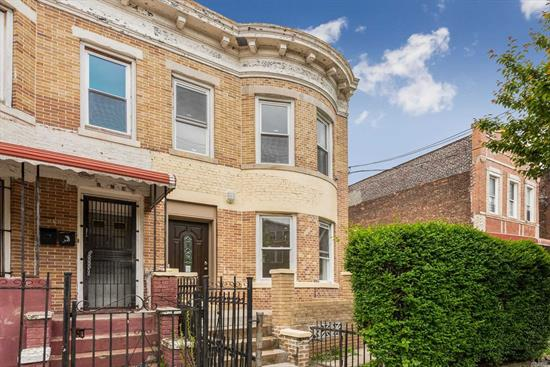 Gut renovated semi detached brick with state of art lighting and appliances. Modern kitchen and bath. Master bedroom on first floor and can easily be set up as mother and daughter as connections available on 2nd floor for 2nd kitchen. Convenient to shopping and transportation!!!!!!!