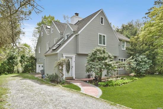 Very Sunny Charming home sitting on Garden-like private land, Tree- line Quiet street, close to Downtown, Walking distance to LIRR, Shops, Restaurants, Worship, everything. House has been Update recently, longer property with many potentials. Saddle Rock Elementary, Option for North or South GN School District. Amazing GN Estate Water Front Pool, Tennis. Village private Police.