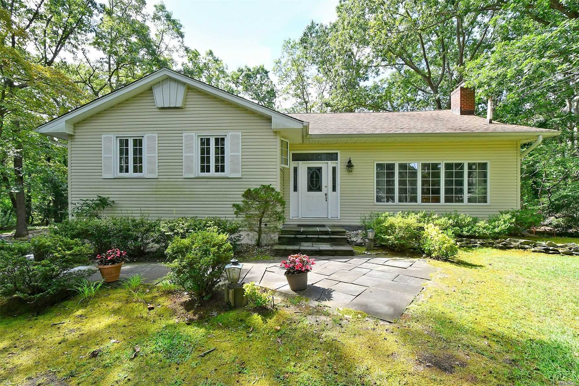 Prime Location for this Spacious, Update and Bright Split, Open Layout Includes Kitchen, Family Rm and Dining Room, Hdwd Flrs, Brick Fireplace, Updated Windows and Marble Baths, Basement, 2 Car Garage, Set on top of a Large private once acre, Come make this special your own!!