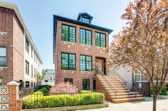 Rarely Available Det 2 fam home on Doctors Row. This spectacular residence with open concept hosts generously sized living rm & dining rm w/lots of natural light, custom kitchen w/ a cathedral ceiling, a master bdrm suite w/a full bth, 2 laundry rms, a spiral staircase that leads to the roof top deck,  studio suite with a separate entrance, a 2 car garage, radiant floor heat throughout. Home details are designed with a luxury contemporary flair.