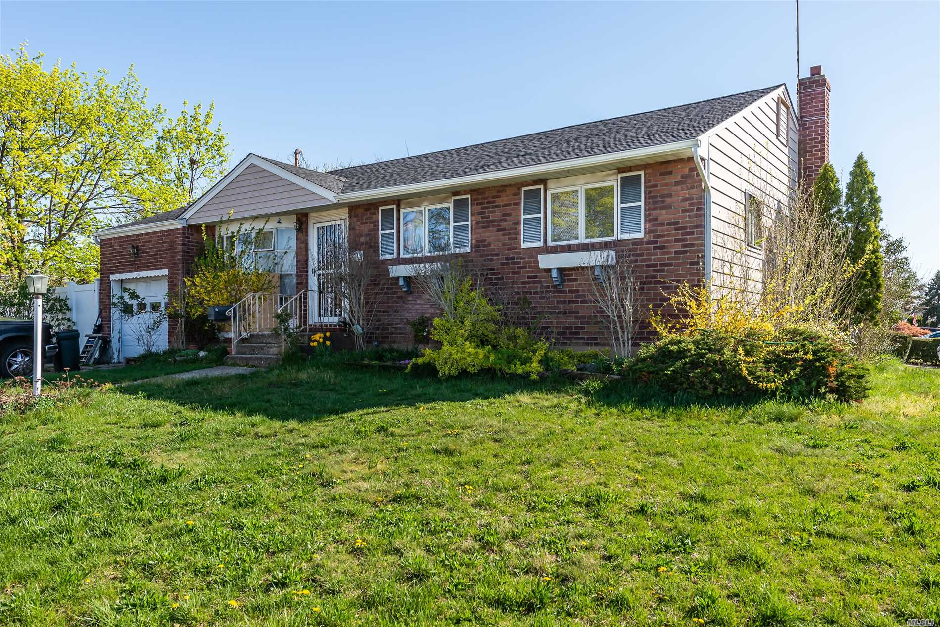 Handyman Special! 3 Bedrm/1.5 Bath Ranch on Oversized Property in East Meadow SD in Need of TLC! Large fenced-in yard, new roof, 200 AMP electric. IG Pool is not in working order. Builders with Cash Offers Preferred. Sold As Is.