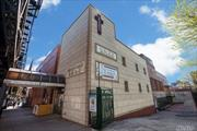 High Traffic. Heart Of Woodside. OPPORTUNITY TO TAKE OVER AN EXISTING CHURCH, BUILD A BUSINESS WITHIN A MIXED USE PROPERTY, OR BUILD A RESIDENTIAL PROJECT. THERE ARE 2 PROPERTIES INCLUDED IN THE SALE. BUILDING CLASS M1. ZONING DISTRICTS R6, R5B, C2-3 Usable Sq Ft 16, 434