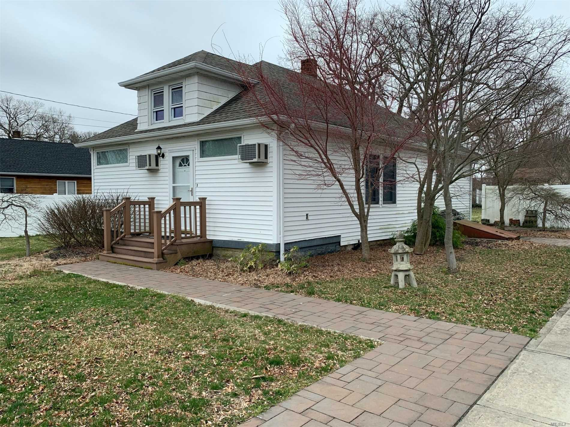 Bohemia Ranch Renovated Lr/Dr, Kitchen, 2 Bedrooms, Full Bath, Large Attic, Full Basement, Garage and a Accessory Building (656 sq ft) all on a 100 X 265 lot Zoned GST district many possibilities. Updated Roof, Siding, Anderson Windows,  Electric, Heating, Bath, Kitchen Cabinets, Appliances.