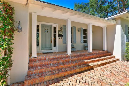 A Very Special Property That Was Presented On Hgtv & Has Appeared In Many Commercials, Including Publix! Features Included: 3 Bedrooms, 3 1/2 Baths, Master W/ Enclosed Glass Porch For Exercise Equipment Or Sitting Overlooking Garden, Home Office, Utility Rm, Sunny Family/Breakfast Rm Opens To Fabulous Kitchen And Overlooks Charming Pool & Covered Porch. Updated To Perfection, Including All Impact Windows, Top Of The Line Appliances, All Copper / Pvc Plumbing Per Inspection. Gleaming Wood Floors, Abundant Light, And So Much More! A Rare Find, For Sure!