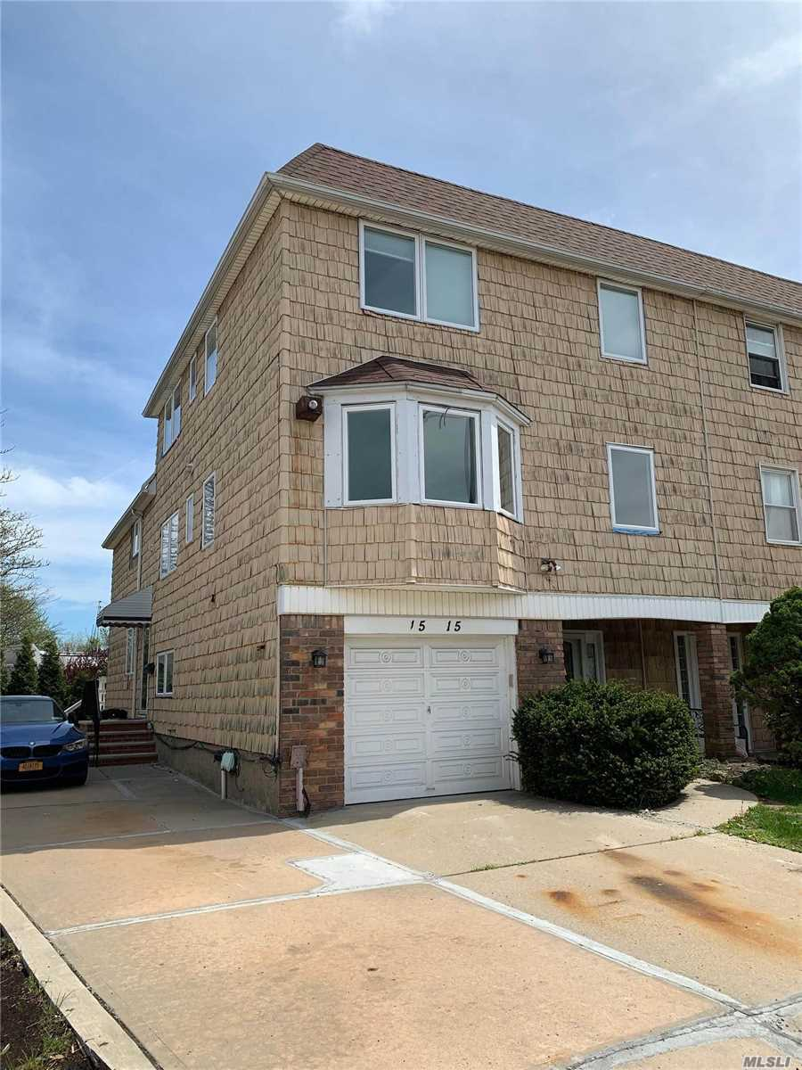 Brand New Triplex W/Garage Near Bay Terrace Shopping Center Area of Bayside . 3 Levels Living Space Over 2000 Sf, Hard wood floors throughout .3, Br 2, 5 Baths, Office .Easy Access To All Transportation, Lirr To Penn, Express Bus To Manhattan , Washer and dryer included.Fenced Back Yard, Garage, 2 parking spot. Great location, Walk To Fort Totten Park by the Water.