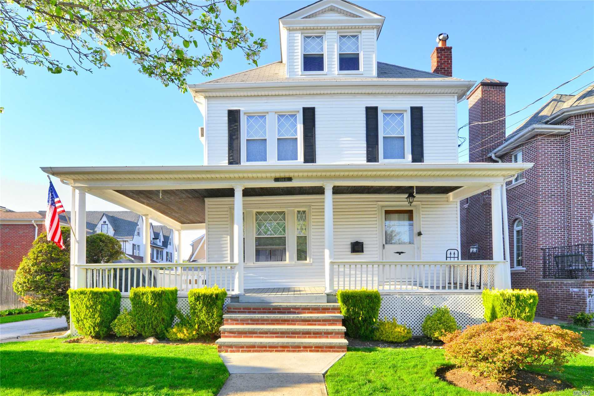 Detached Colonial in Beechhurst on oversized 6, 000 square foot lot. Great opportunity for rebuild in prestigious Beechhurst neighborhood. This well maintained colonial has 4 Bedrooms, 2 Full Baths, Office, Attic, and Above-Ground Pool. Schools: P.S.193; J.H.S.194; Bayside High School.