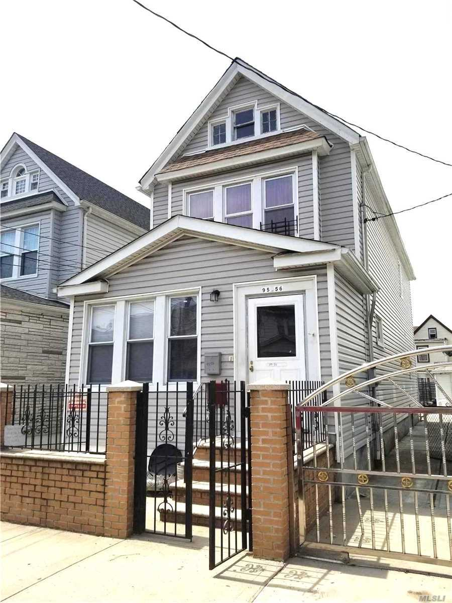 LEGAL 2 FAMILY WITH 2 GAS METER, 2 ELECTRIC METER . HOUSE WAS LAST RENOVATED IN 2005. NEW WOOD FLOOR ON 1ST FL. ROOF AND SIDING IS ABOUT 6 YEAR OLD , EXCELLENT CONDITION TO MOVE IN  AND RENT THE 2ND FL.