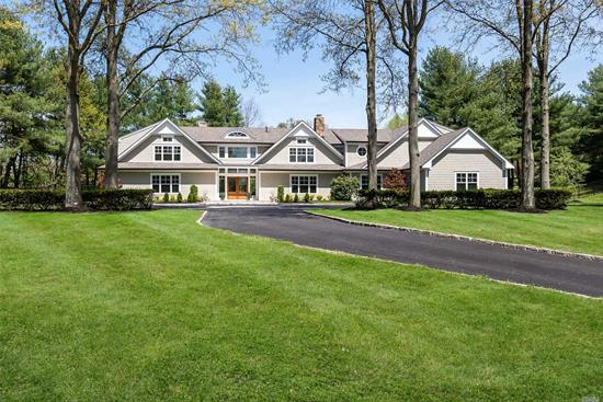 Majestically Situated This Sophisticated Home Sits On Park-Like Grounds In A Tranquil Cul De Sac. Elegant Stone & Shake Exterior Meet Luxurious Appointments And State Of The Art Amenities.An Ultra Chic Home Where Modern Inspiration & Architecture Meet Impeccable Custom Details Supporting Gracious Lit Spaces Is Perfect For All, Whether You Are Getting Cozy By The Living Room Fireplace, Enjoying A Home Cooked Meal In The Spacious Gourmet Kitchen, Or Soaking In Tranquility In The Al Fresco Scenery.