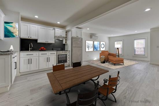 Presenting a completely renovated studio apartment in the heart of maritime Greenport Village. Rent this luxury residence for the price for the summer, MD-LD for $19, 200 or enjoy a pied-?-terre for the entire year for the same price. New wood floors, new walls, new windows, new kitchen (GE & Maytag appliances), new bath, new AC/heat unit, new interior sprinkler system. Private 2nd staircase access. Live amid vibrant Greenport Village. Offered MD-LD $19, 200; or 1-year for $19, 200 ($1, 600/mo.)