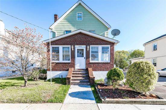 Stunning and Updated Brick Colonial in the Heart of Lynbrook. This home Features 3 Beds, 2 Full Baths, Gorgeous Eat in Kit, Formal Dining Rm, Large Liv Rm,  Charming Family Room, Professional Office, Jacuzzi, Fresh Paint and Gleaming HW FLoors throughout. Full Finished Basement with OSE, Updated Heat System, Gas Cook and Heat. Det 1.5 Car Garage w Long Driveway. Large Covered Front and Back Patio set on this Gorgeous Oversized Property. Hurry This one will Not Last!! Prof Photos Coming Soon!!