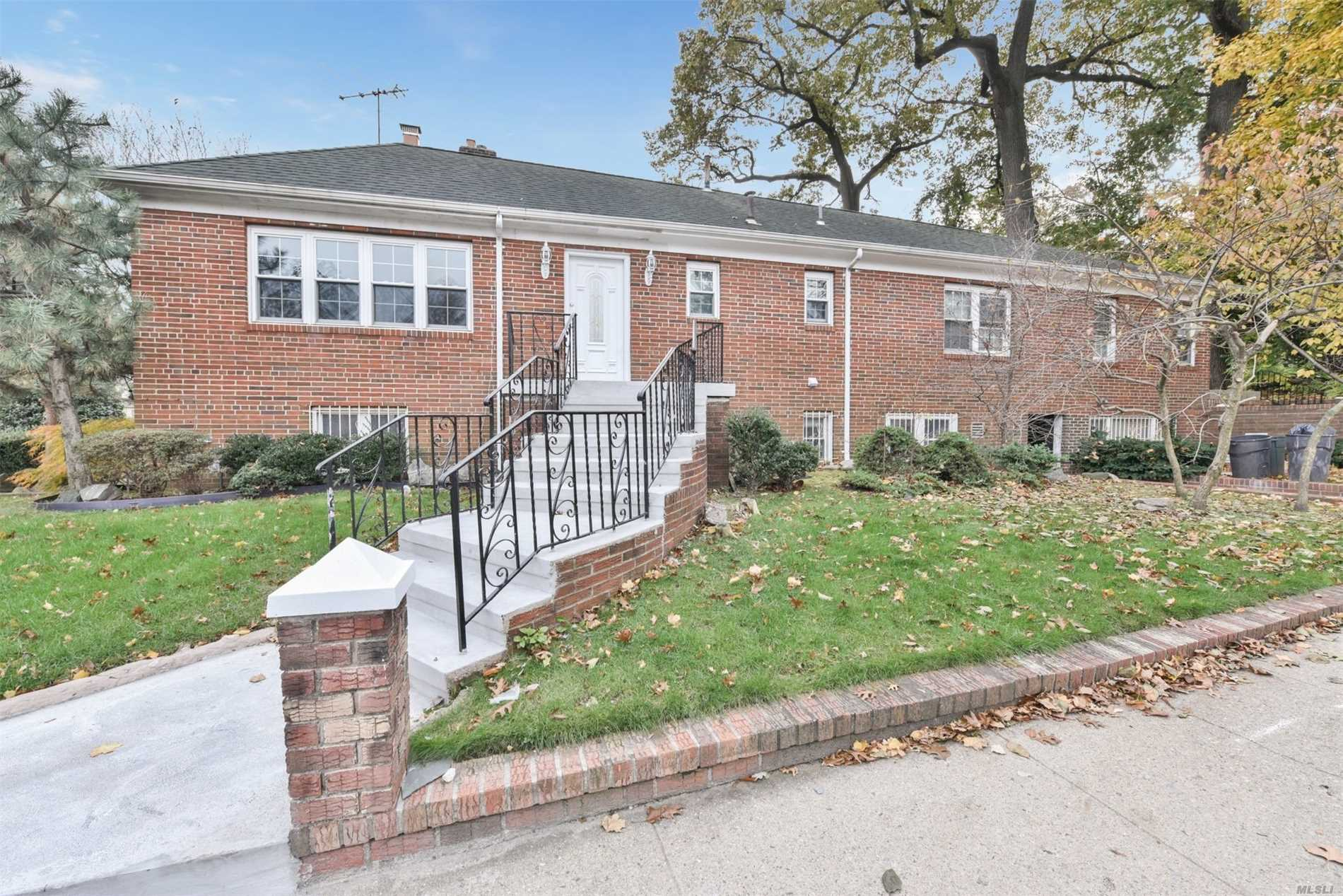 Fully Renovated 1-Family House Located In the Jamaica Estates Area. This Corner All Brick House Featuring Living Room With Wood Burning Fireplace, Dining area, Kitchen, 1.5- Bath And 3-Bedrooms. The House Is Located Within Minutes From All Major Transportation And Shopping.