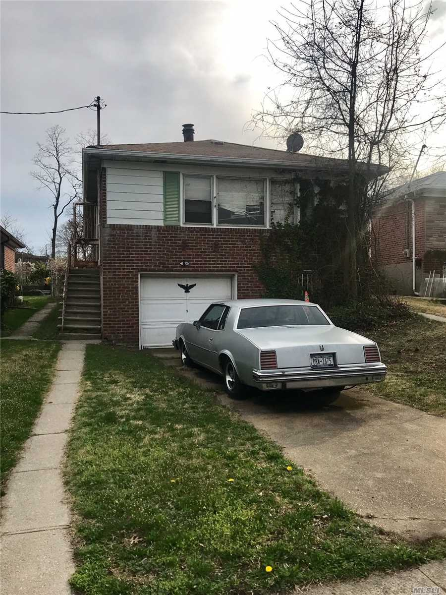 Amazing Opportunity to Live in Very Popular Bayside Area of Flushing. Large Rare 5, 000 Square Foot Lot - Great Chance for Renovated Dream Home or Investment Property. Very close to Cross Island Pkwy, Mass Transportation, and Schools (School District #26). Roof is Just 2 Years Old. This will not last long!! Easy to show!!