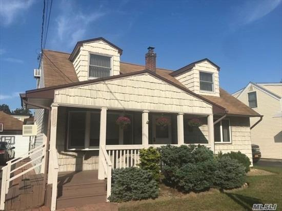 Charming 3 Bedrooms Cape Located on quiet dead end street, 2 Full Bath Cape in Wantagh. Sun Drenched Rear Deck with Semi Inground Pool. Close to Wantagh Park and Mandalay Elementary School ... A Must See!