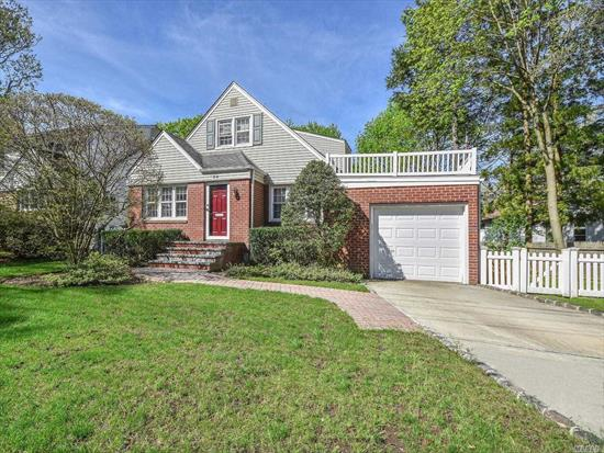 Beautiful cape cod style house with 3/4 bedrooms and 2 baths in mint condition. Sun-filled LR with skylight, kitchen w/granite, updated baths. Den (or 4th bedroom) with sliders to deck overlooking deep backyard. Large finished basement offers extra space for playroom/office/storage. Gas heat, attached garage, and much more!
