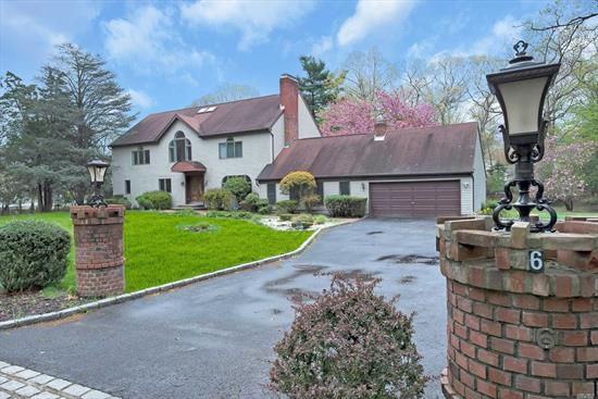 Gracious Living & Elegant Entertaining In Your 11 Rm, 5 Bth Colonial On 1.37 Acre Park-Like Grounds. Maple/Granite Eat-In-Kitchen W/ Stainless Appl, Recently Renovated F-Dining Room W/ Fpl & Vltd Ceiling, L-Room With Fireplace, Library & Guest Br W/Bth. Ent. Rm W/Wet Bar, Den W/ Fpl, Mstr Suite W/Sitting Rm, Vltd Ceiling And Jacuzzi Bth. 4 Car Garage, 3 Zone Cac And New Gas Heat. New Cesspool 2019!