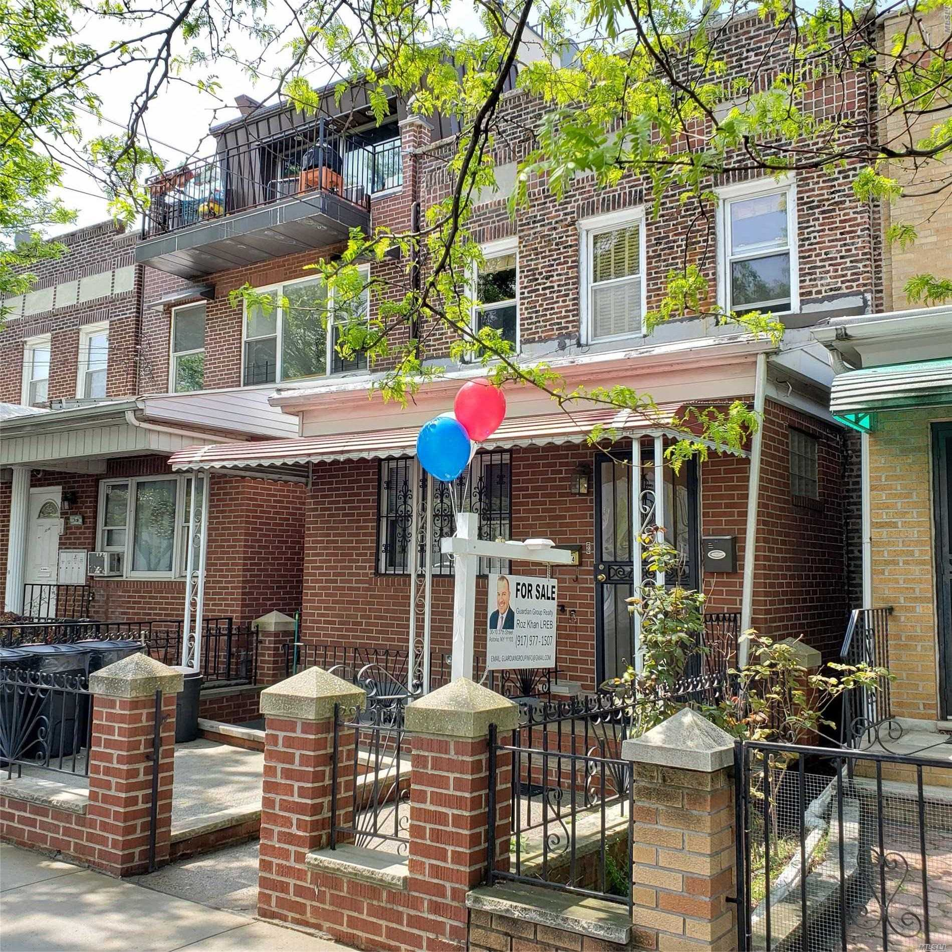 Gorgeous 2 Family Brick, Convertible to 3 Family 20+100 2 Car Parking in Rear Split Unit A/C Rental Income Prime Street with tons of shopping, Great schools! Priced to SELL