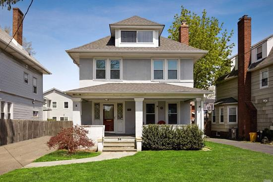 New To Market! Updated Spacious Colonial, Heart Of Old Woodmere! Welcoming Entry Hall. Large Kitchen, 2 Sinks, Granite Counters, Stainless Steel Appliances. High Ceilings. Large Formal Dining Rm & Living Rm, Stone Fireplace. Gorgeous Original Woodwork Throughout. Master Bed Suite With Vaulted Ceilings And Private Full Bath. Second Floor Boasts Three Beds, Can Be Converted Back To Four! Full Bath. Beautifully Finished Attic Loft. Full Finished Basement. Immense Driveway. Lovely Front Porch. SD#14