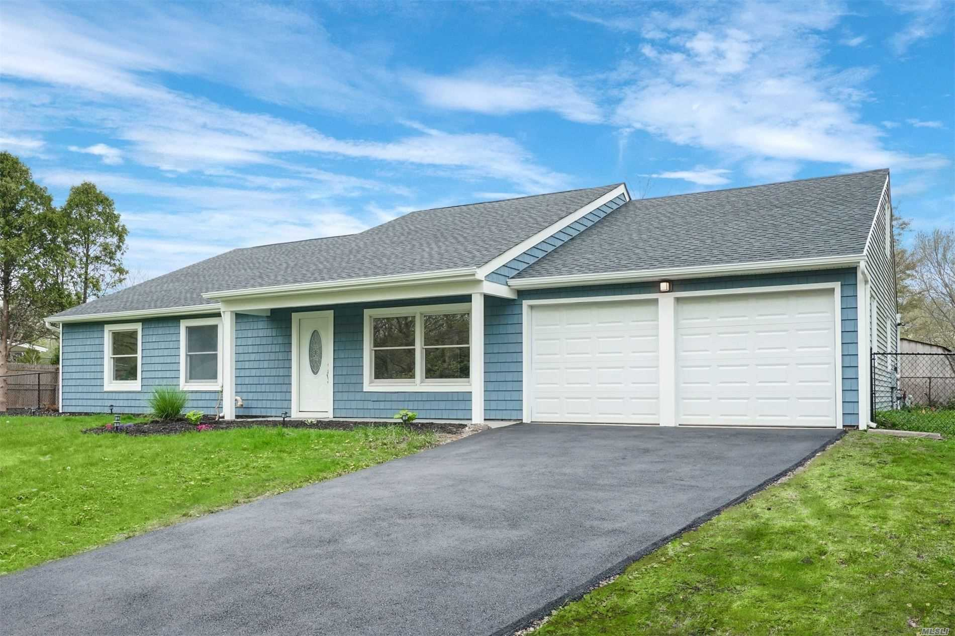 Completely Renovated Top To Bottom. New Roof, Siding, Fencing, Driveway, Garage doors, Brand new Interior With Quality Finishes.