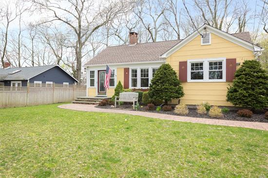 Charming North Fork cottage across from the Peconic Bay. This home boasts water views from front windows. Bright and immaculately maintained home with wood floors throughout. Beautiful, private backyard with outdoor shower and room for a pool. Located in the Fleets Neck community, close to the Cutchogue Harbor Marina, two bay beaches and playground!