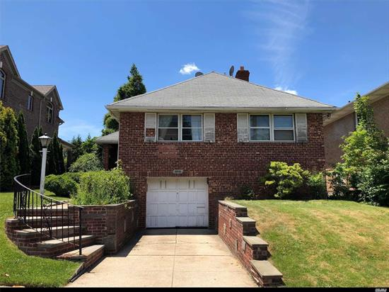 Over size lot 50 x110. 26 School District. Near by Bay Terrace Shopping Center, Movie Theater, Post Office and Close To Public Transportation, Lirr, Highways, convenience to all. Great Opportunity For your Dream Home With 5500 Sq/ft Lot.